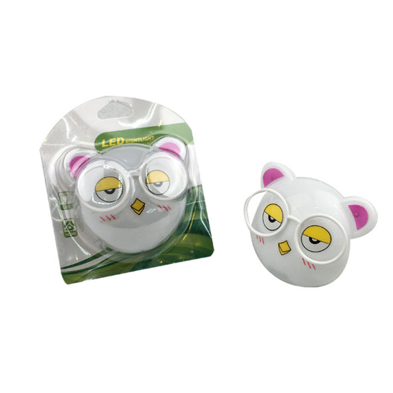 OEM KITTY Animal cat shape LED SMD mini switch plug in night light with 0.6W and 110V or 220V W025