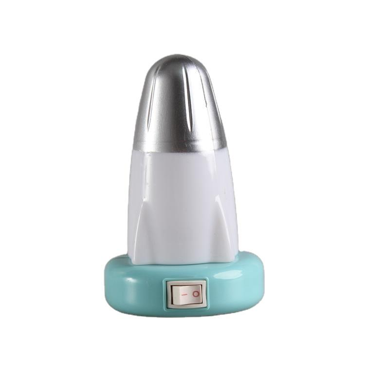W076 OEM mini switch plug in rocket night light cute gift For Children Baby Bedroom