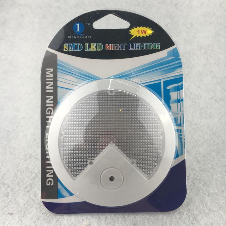 OEM W057 Creative Round shape 4 SMD mini sensor plug in LED night light for baby bedroom