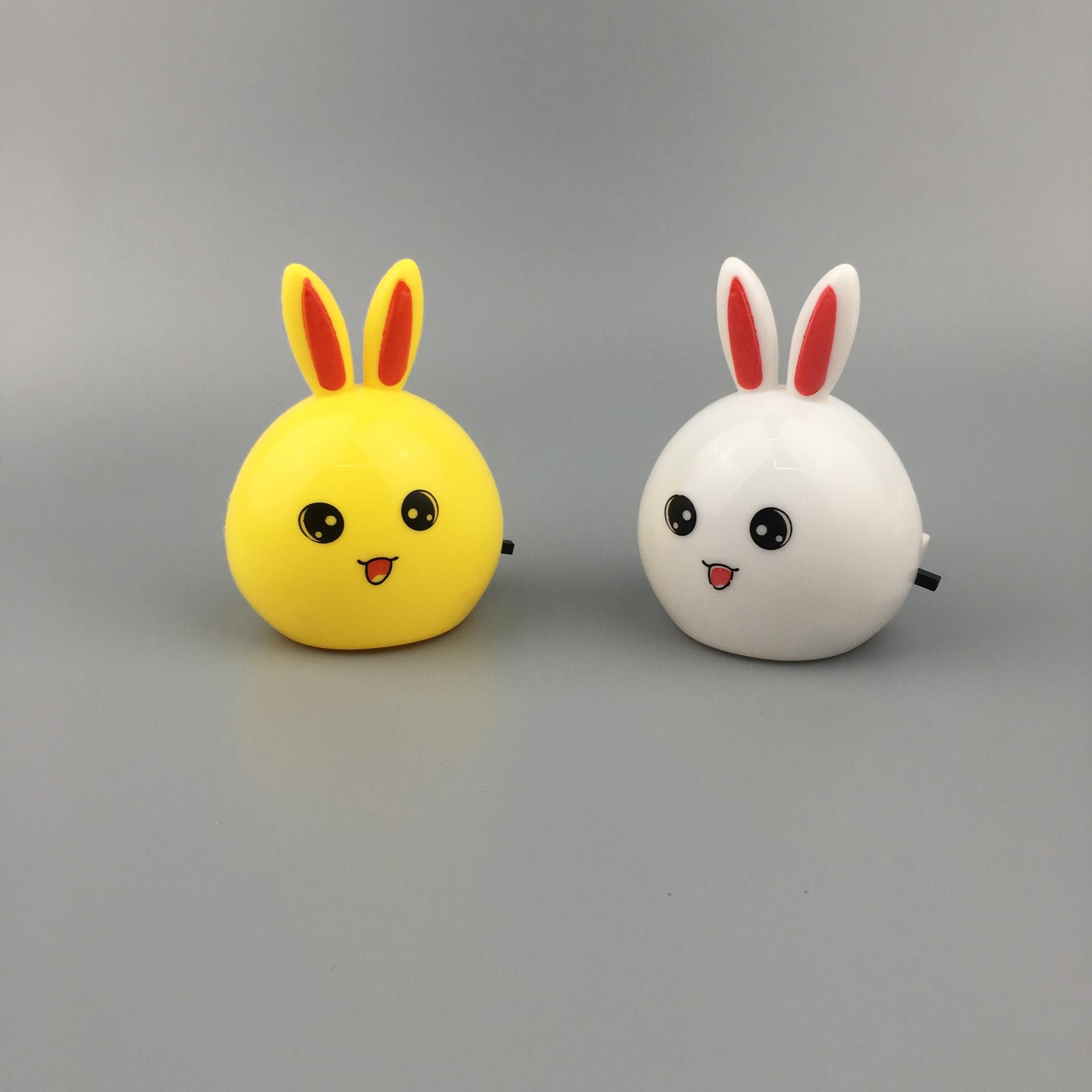 W103 Oval long-eared rabbit shape 4SMD mini switch plug in night light with 0.6W AC 110V 220V