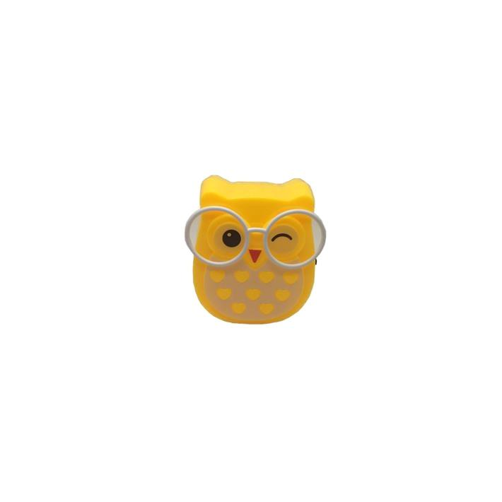W090 4SMD mini switch plug in room usage Owl shape night light For Baby Bedroom cute gift