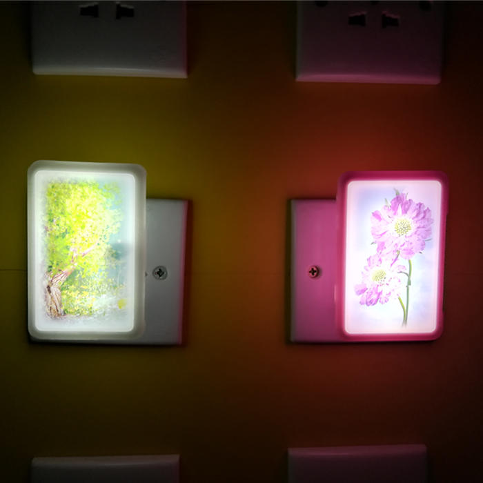 Popular W126 mobile phone shelllamp switch plug in led night light For Baby Bedroom child gift