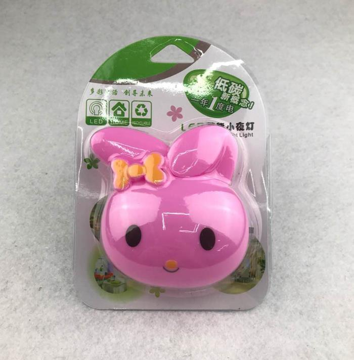 OEM W082 plug in rabbit cute ears shape night light For Baby Bedroom cute gift