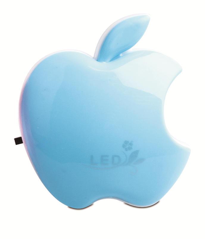 W050 Popular apple shape 16SMD mini switch plug in table lamp night light decoration in door