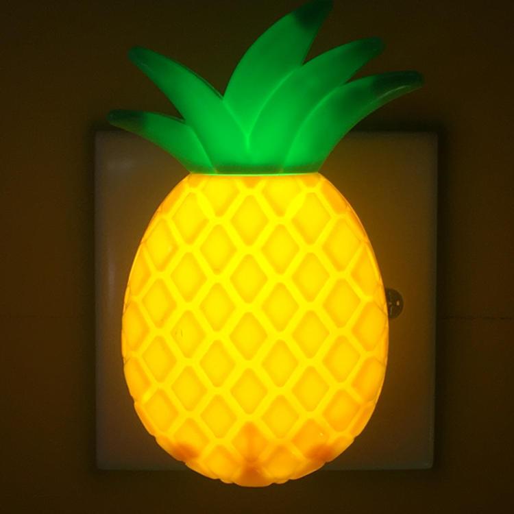 W041 OEM LED plug in night lamp Cartoon Pineapple Night Light 4 SMD mini switch with 0.6W AC 110V or 220V