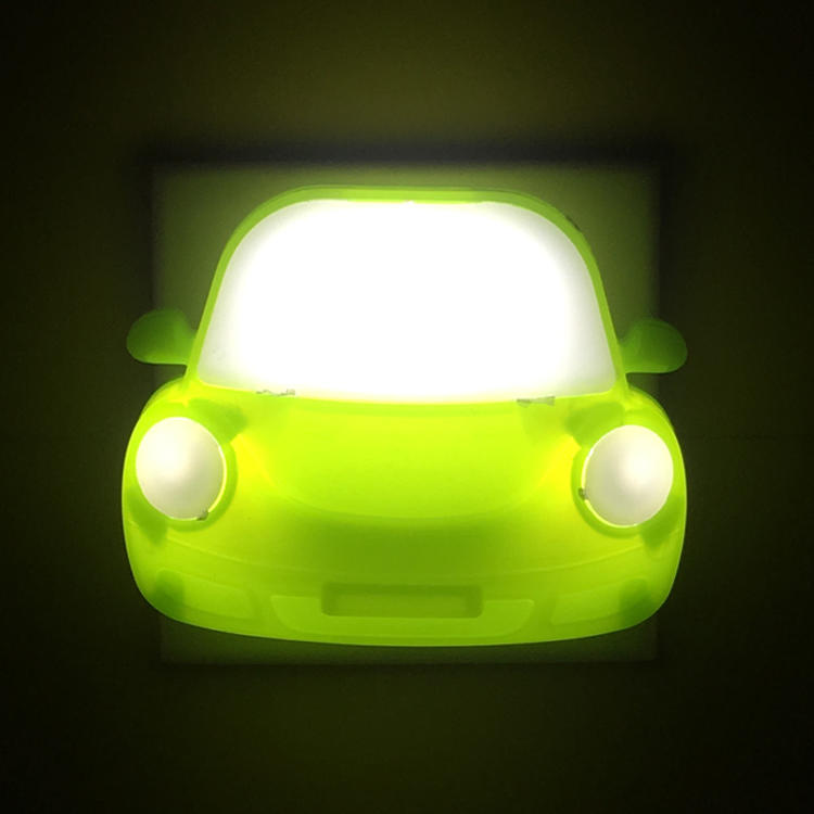 toy car shape 4 SMD Indoor night lamp plug in night light Electric LED switch kids night light 0.6W and 110V or 220V W044