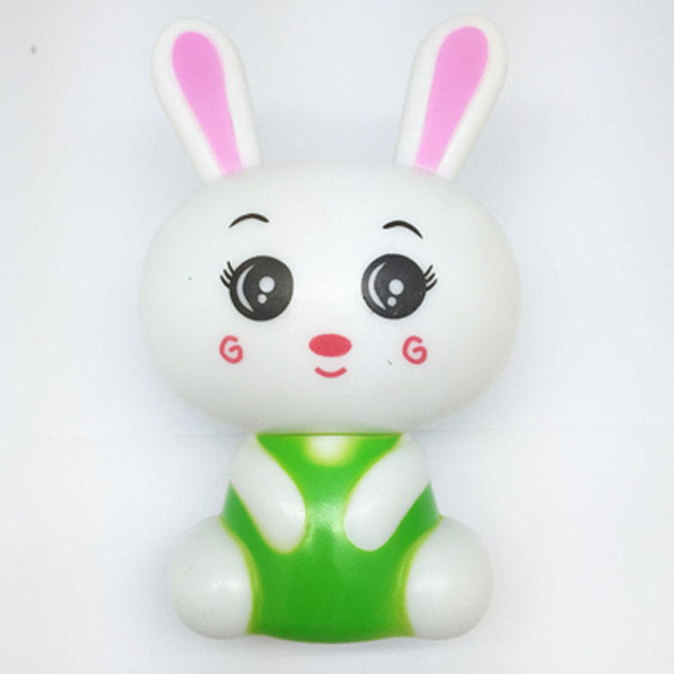 W021 White cute rabbit shape LED SMD mini switch plug in night light with 0.6W and 110V or 220V