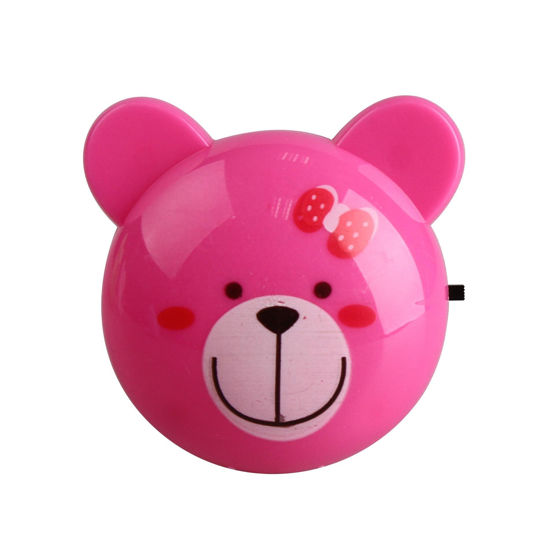 bear head shape 4 SMD mini switch plug in night light 0.6W AC 110V 220V W061