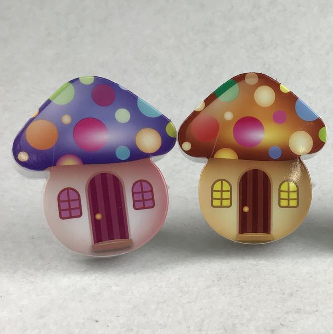 OEM W078 mini switch plug in mushroom LED night light cute gift For Children Baby Bedroom