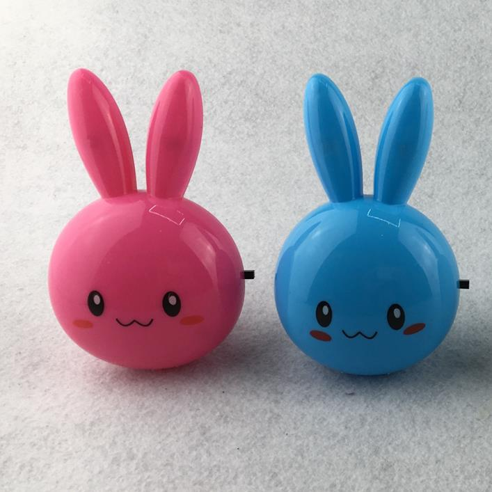 W062 OEM Lopunny long eared rabbit shape 4 SMD mini switch plug in night light 0.6W AC 110V 220V
