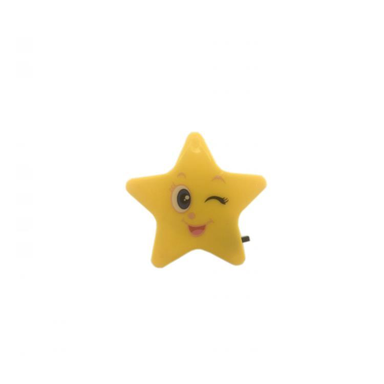 OEM W096 4SMD mini switch plug in star with or without smile face night light Baby Bedroom cute gift