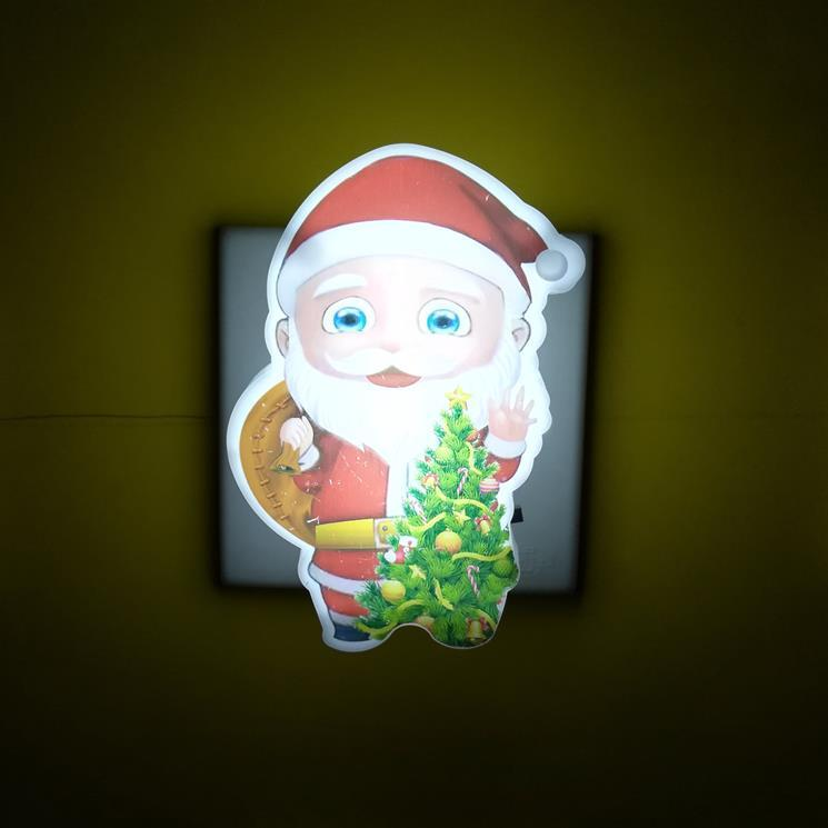 OEM W086 US mini switch plug in xmas christmas trees Santa Claus led night light For Baby Bedroom