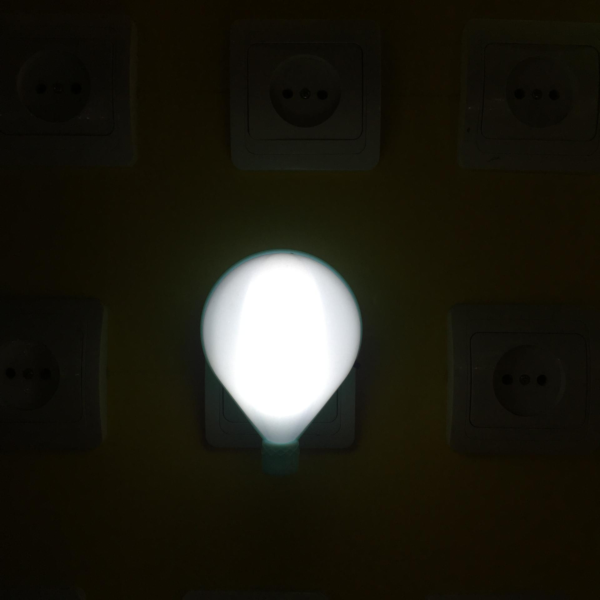 OEM night light 0.6W AC 110V 220V W043 Fire balloon shape 3 SMD mini switch plug in