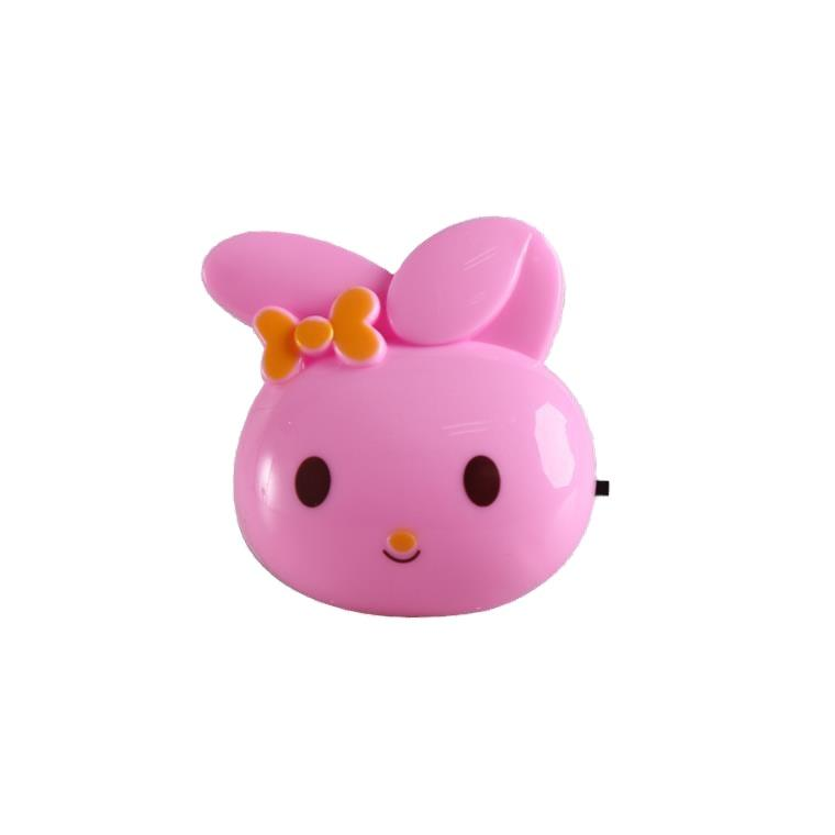 OEM W082 plug in rabbit cute ears shape night light For Baby Bedroom cute gift