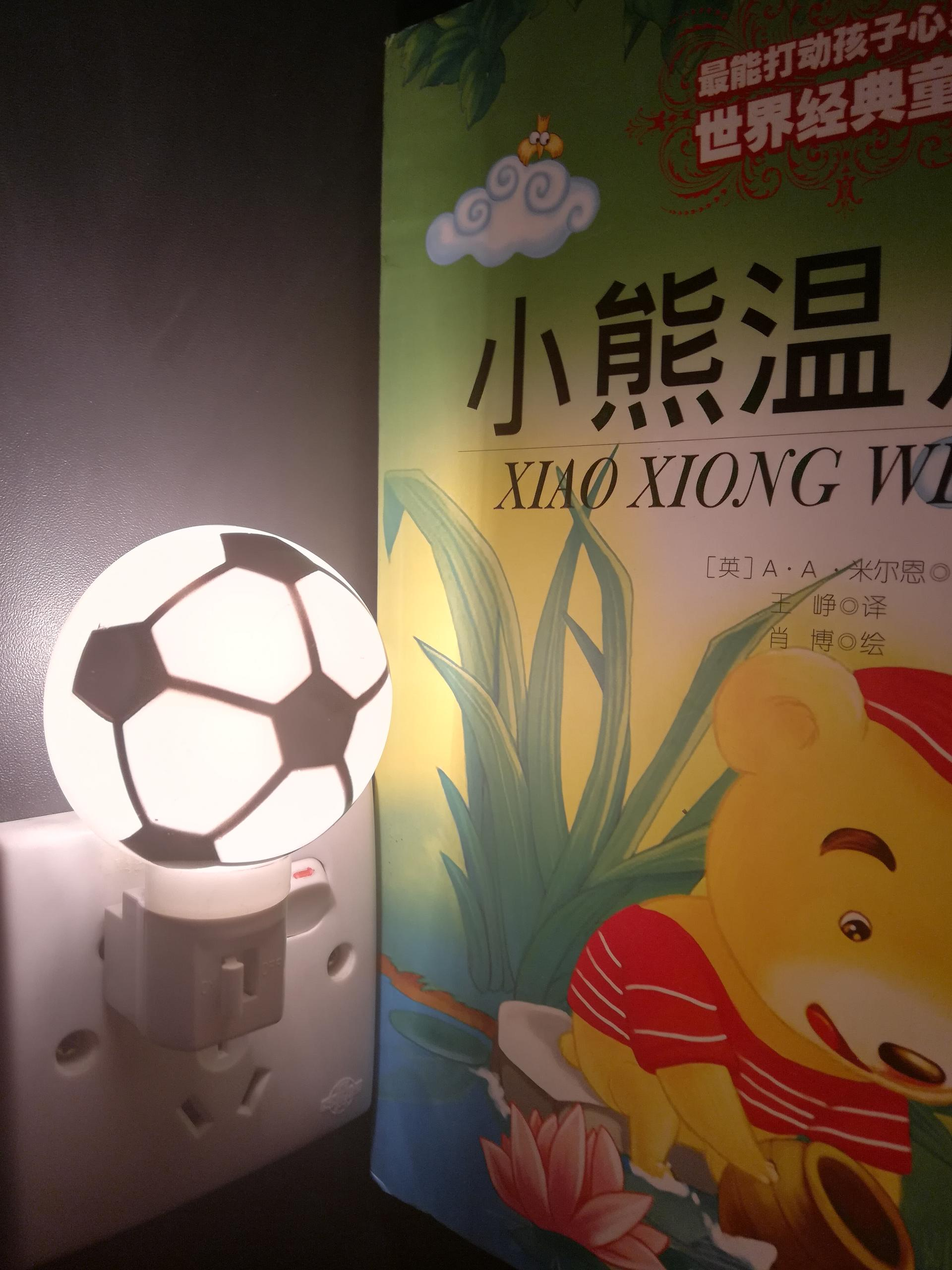 A61-F football plastic mini switch night light with bulb CE ROSH approved promotional gift items