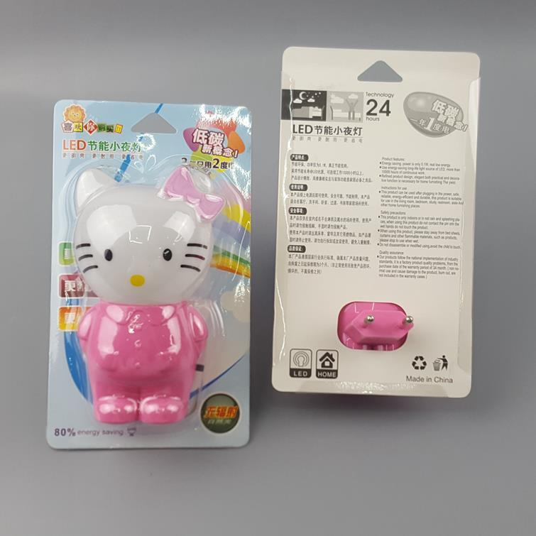 W119 kitty cat or rabbit switch plug in led night light For Baby Bedroom wall decoration child gift