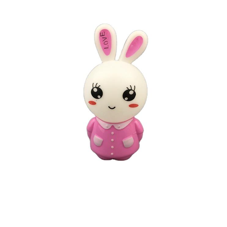 W104 US mini dressed long-eared rabbit switch plug in led night light For Baby Bedroom