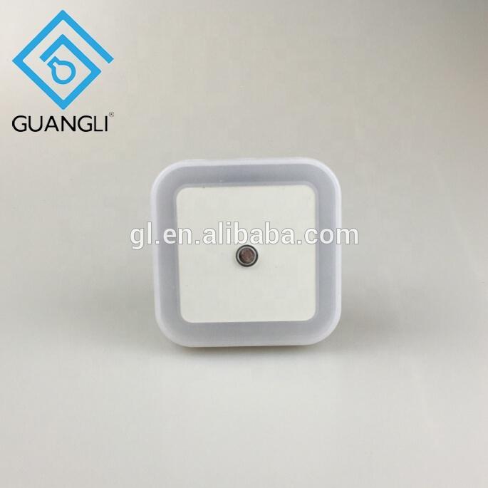 US EU plug in square shape LED sensor Night Light Lamp with Auto Dusk to Dawn Sensor for Baby Bedroom W081