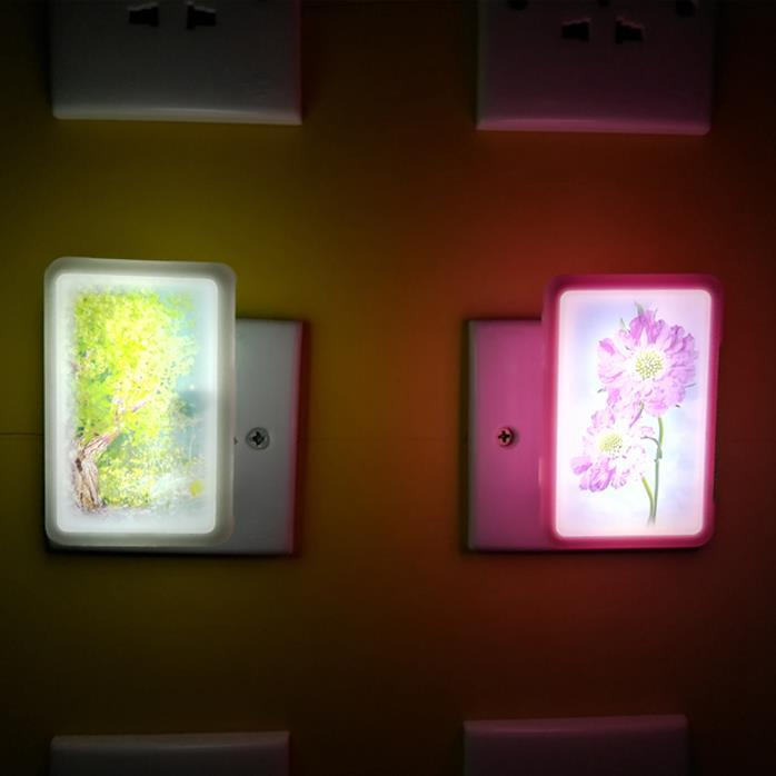 hot sale OEM W126 mobile phone shelllamp switch plug in led night light For Baby Bedroom child gift