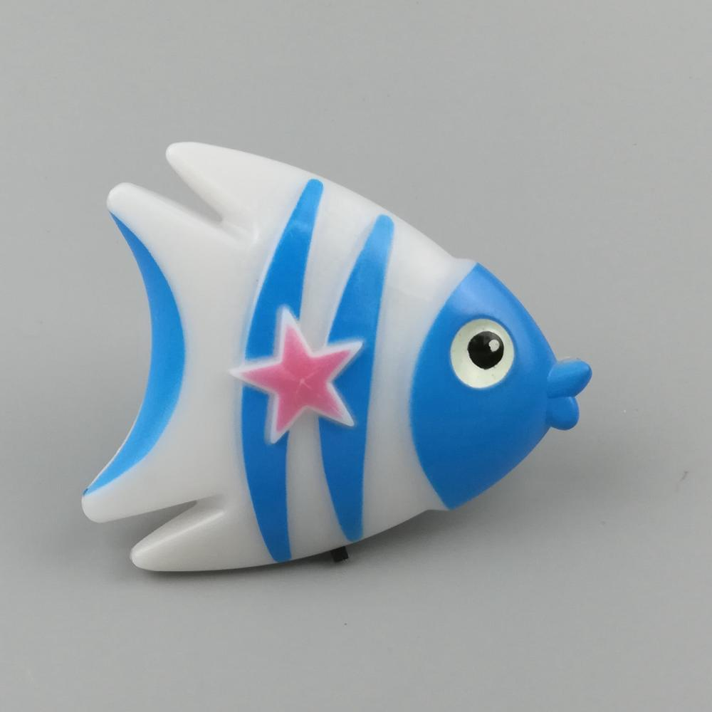 W037 Fish cute shape LED SMD mini switch plug in night light 0.6W AC110V 220V W037