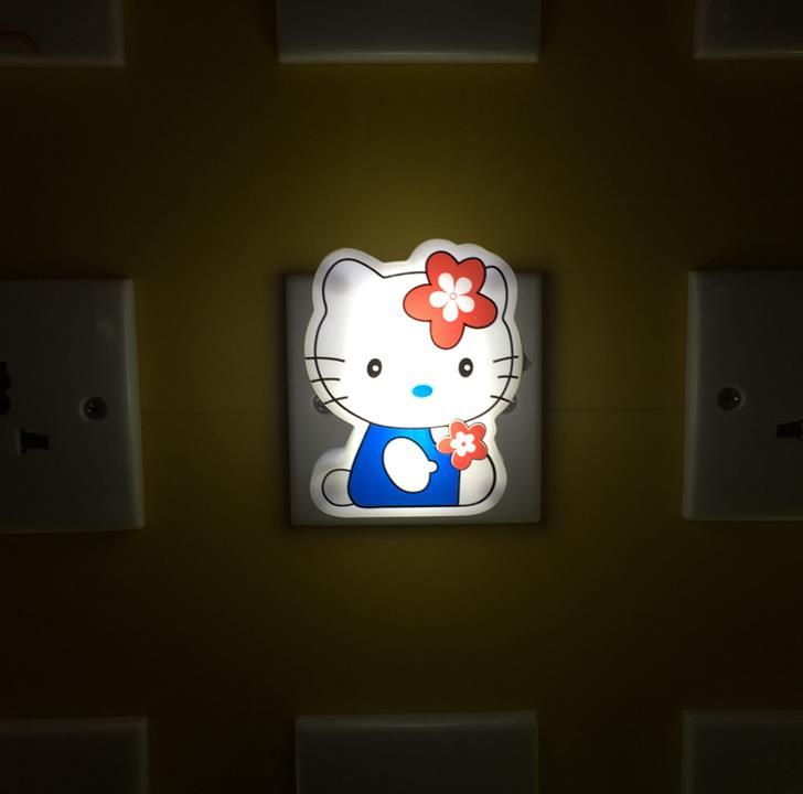 OEM W080 White cute cat shape with Flower LED SMD mini switch plug in night light with 0.6W and 110V or 220V