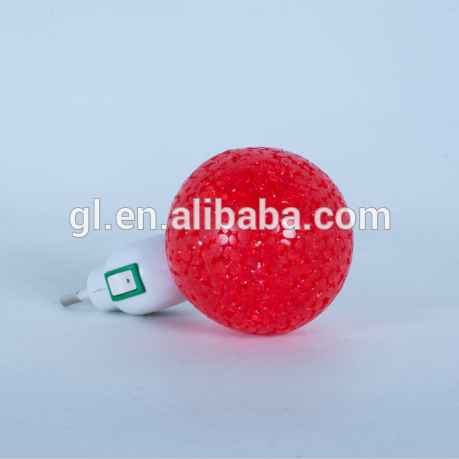 OEM GL-A09 Ball EVA mini switch LED nightlight CE ROHS approved HOT SALE promotional gift items