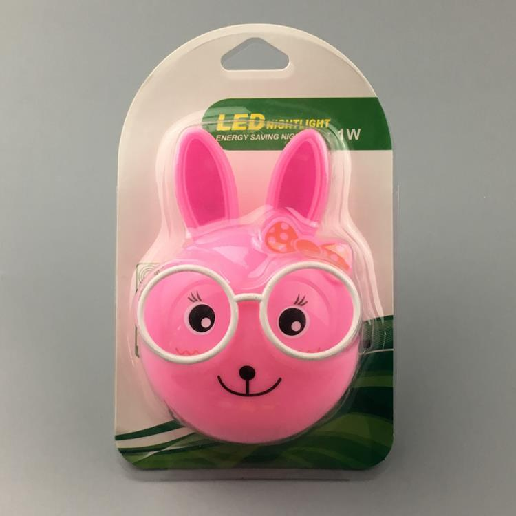 W099 US mini eyes rabbit switch plug in led night light For Baby Bedroom