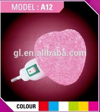 OEM GL-A12 star EVA mini switch LED nightlight CE ROHS approved HOT SALE promotional gift items
