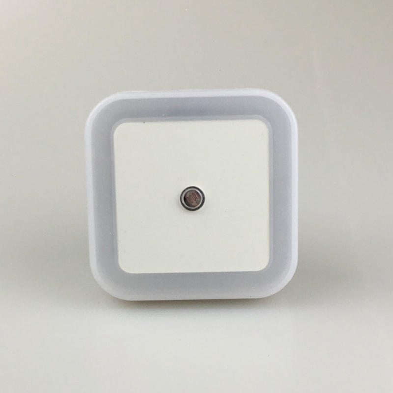 OEM Lamp with Auto Dusk to Dawn Sensor for Baby Bedroom W081 US EU plug in square shape LED sensor Night Light