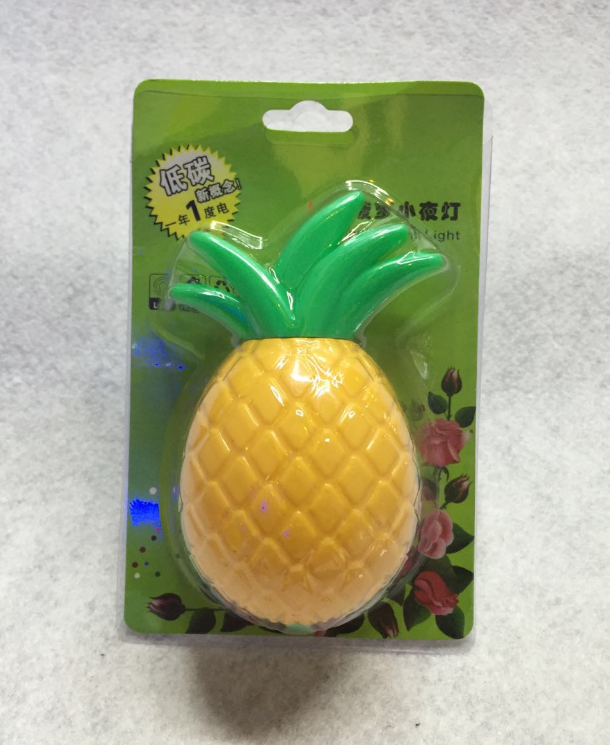W041 Lovely pipeapplewall lamp plug in night light decoration For Baby Bedroom cute gift