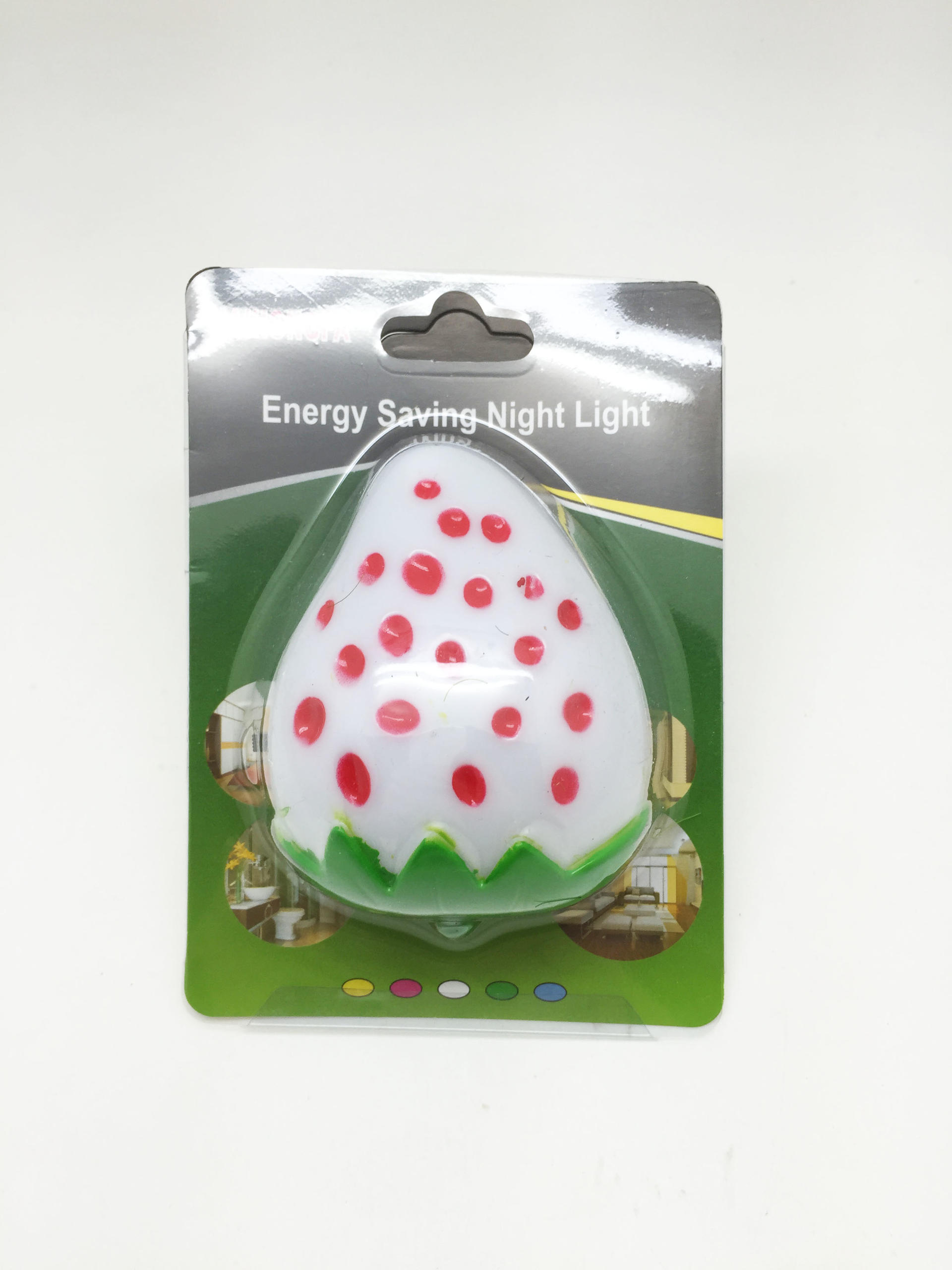 OEM 0.6W and 110V or 220V strawberry fruits shape LED SMD mini switch plug in night light