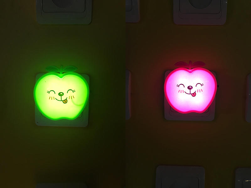 W077 switch plug in creative fruits apple led night light For Children Baby Bedroom