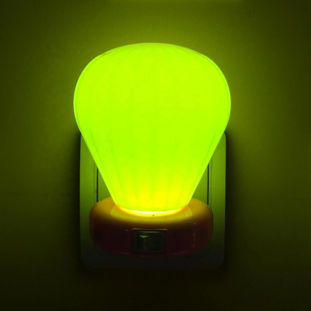 W072 Cartoon cute gifts mini switch balloon LED plug in night light 0.6W AC 110V 220V