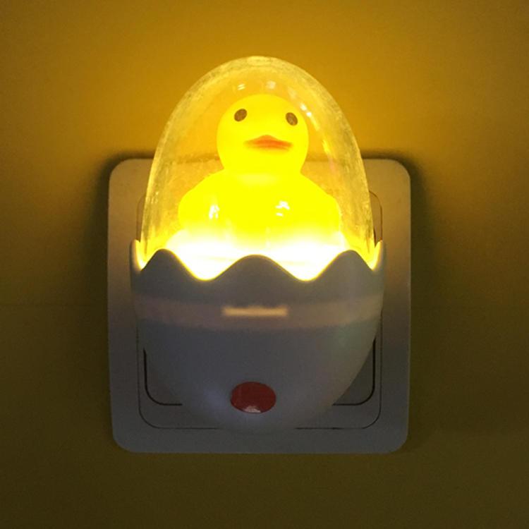 W033 Animal Duck egg shape LED SMD mini sensor plug in night light with 0.6W and 110V or 220V
