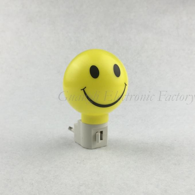 A61-S smile pattern plastic mini switch nightlight CE ROSH approved HOT SALE promotional gift items