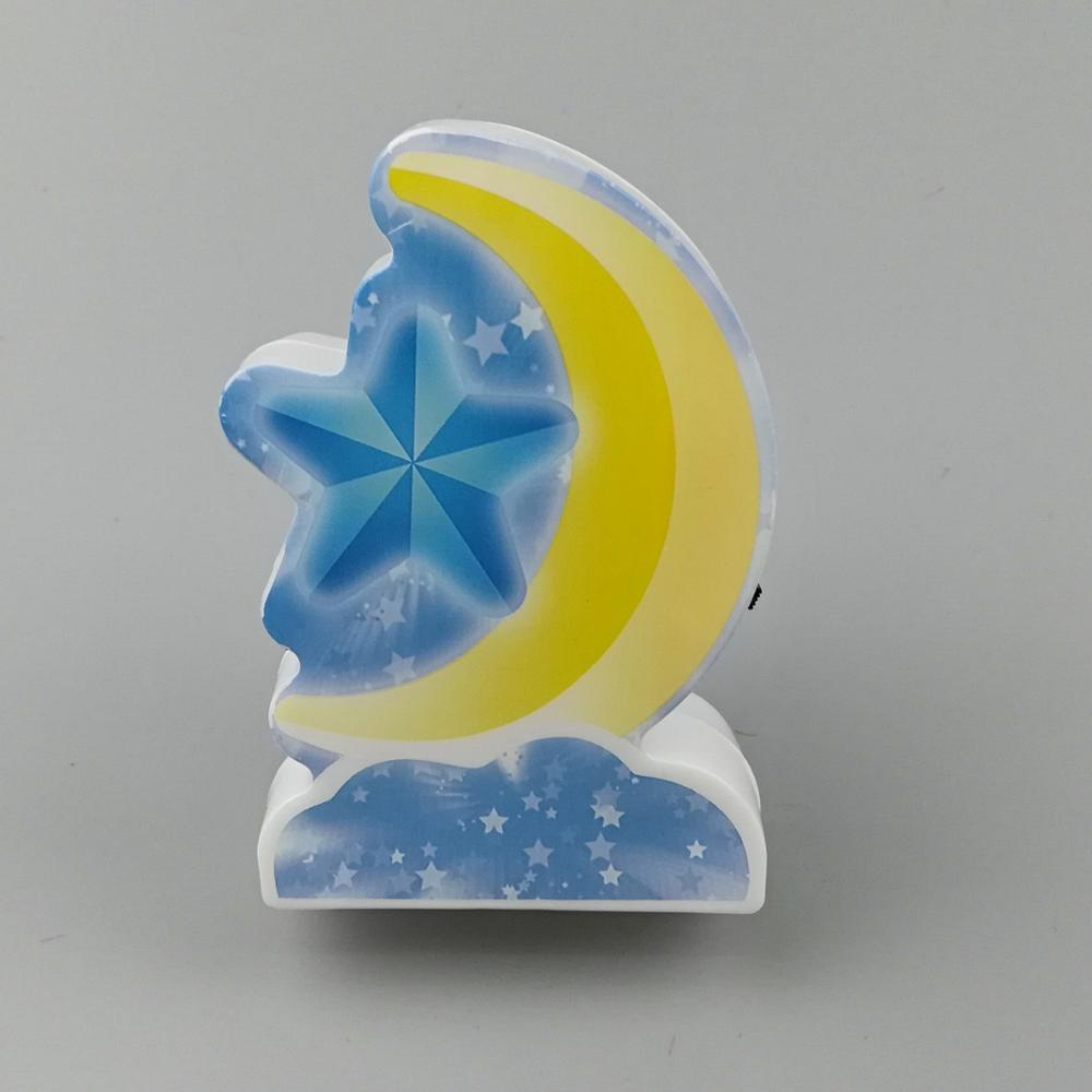 W089 4SMD mini switch plug in moon and star Unicorn room usage night light For Baby Bedroom cute gift
