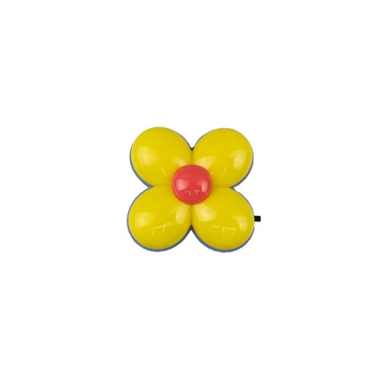 OEM GL-W092 Four Leaf Clover flower 4 SMD mini switch plastic material plug in children gift night light