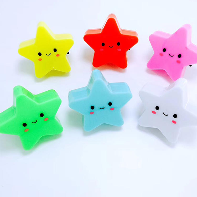 W096 4SMD mini switch plug in star with smile face room usageFornight lightBaby Bedroom child cute gift