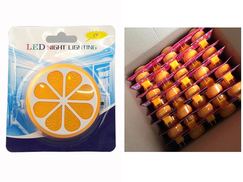 OEM GL-W083 4SMD US EU mini switch plug in Fruits orange Shape night light For Baby Bedroom wall decoration