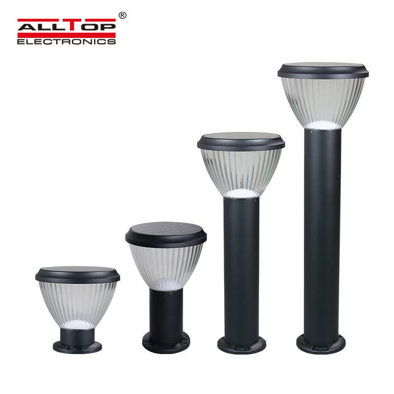 ALLTOP Ip65 outdoor waterproof aluminum intelligent integrated 5w solar led garden light