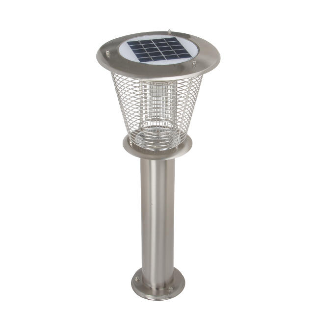 6w high quality fancy main gate outdoor solar led pillar light