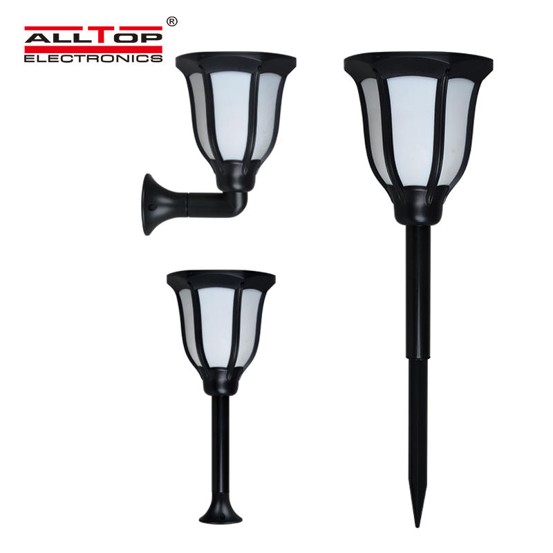 ALLTOP Energy saving bridgelux chip 2835 garden waterproof 2W Solar torch light