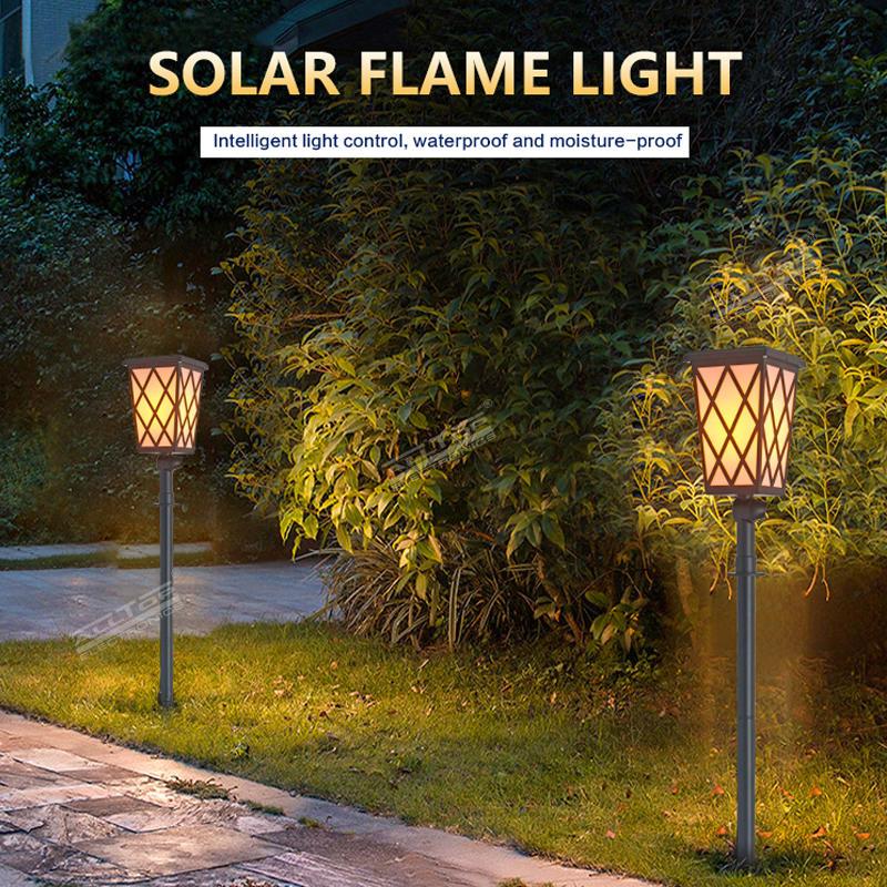 ALLTOP Outdoor led dancing flickering torch garden light 5W solar flame light