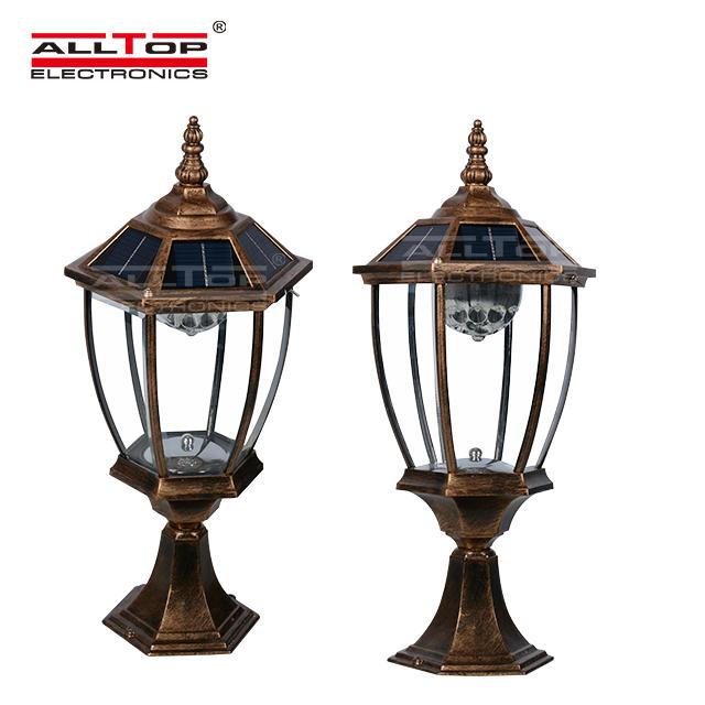 3w high quality fancy main solar gate post pillar light