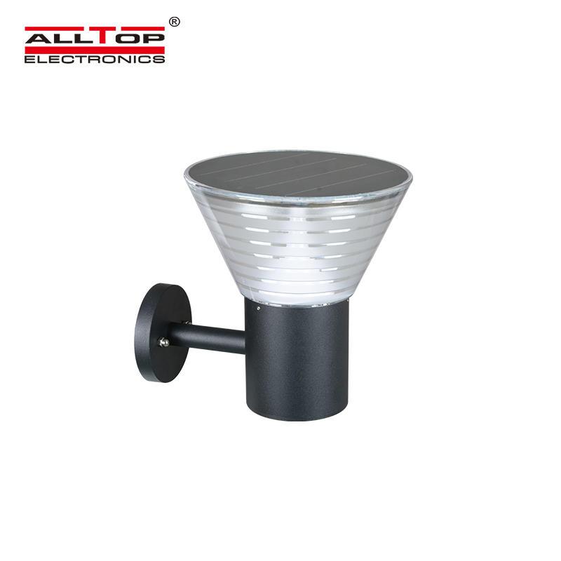 ALLTOP High lumen SMD 5w IP65 outdoor integrated motion sensor solar led garden light price