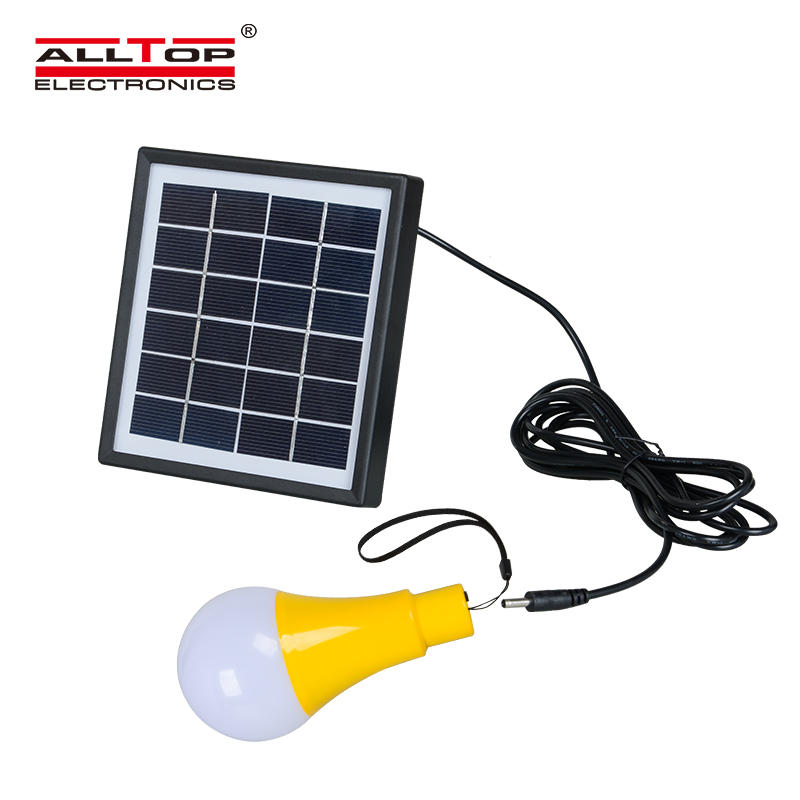 High quality Outdoor camping garden portable 5watt solar chargeable bulb