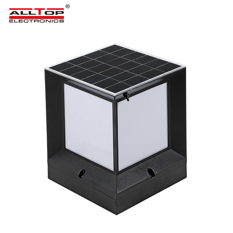 ALLTOP High lumen all in one integrated garden light outdoor waterproof 10w solar LED garden light