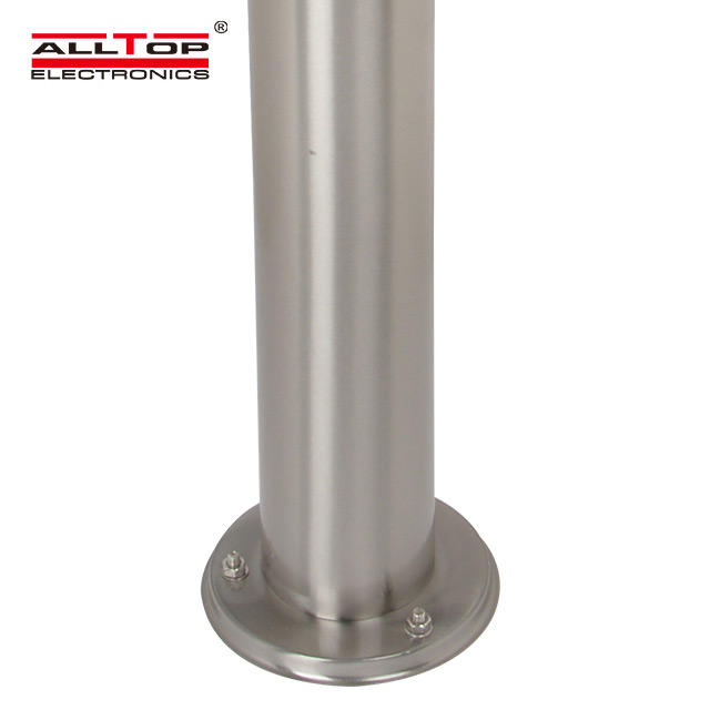 6w high quality fancy main gate outdoor solar led pillar light