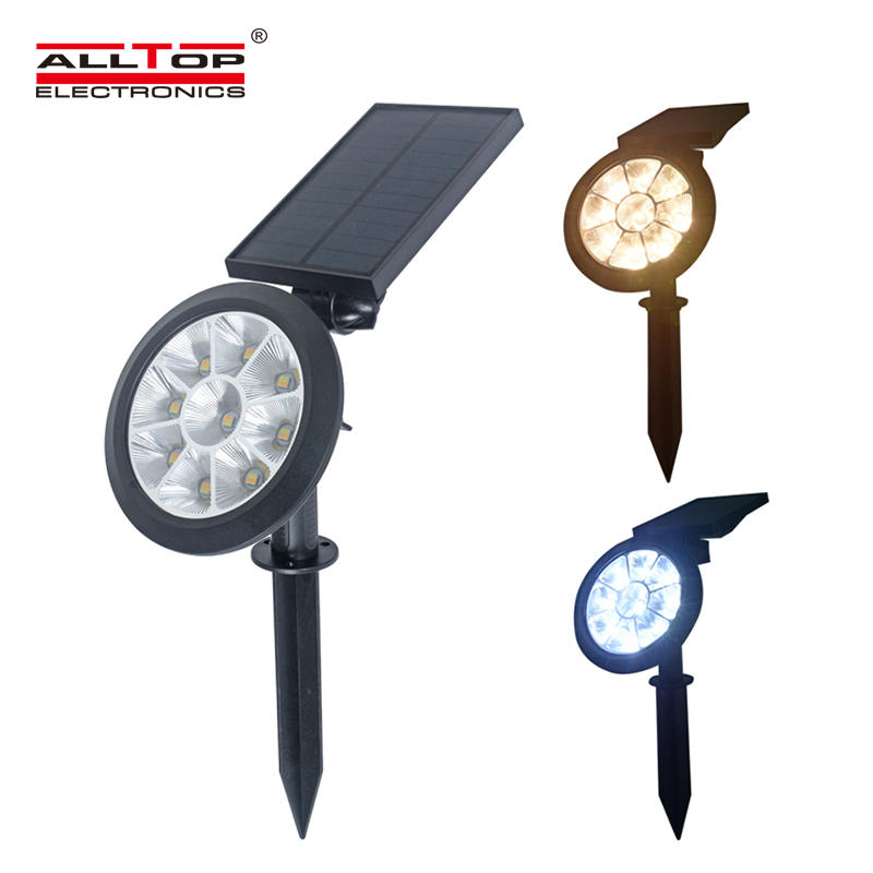 ALLTOP Solar Spotlights Solar Lights Adjustable RGB Solar garden light