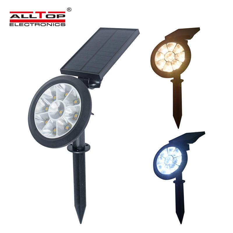 ALLTOP Solar Spotlights Solar Lights Adjustable RGB Solar garden light